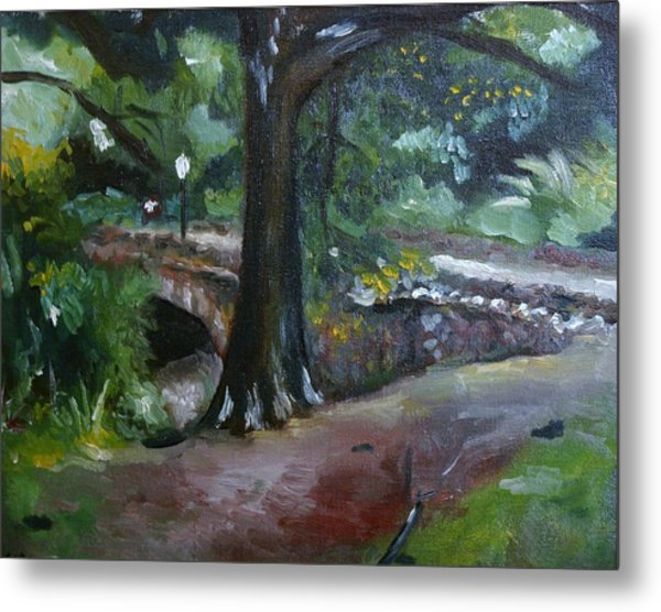 Highland Park Path Metal Print by Victor SOTO