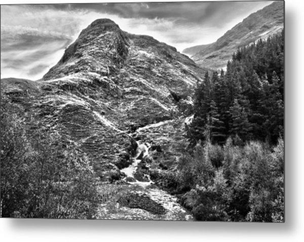 Highland Stream Bw Metal Print by Paul Prescott