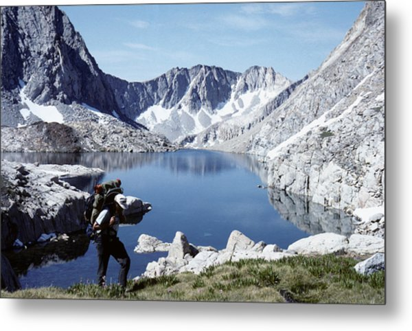 Hiking The High Sierra Metal Print