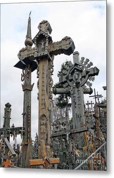 Hill Of Crosses 09. Lithuania Metal Print