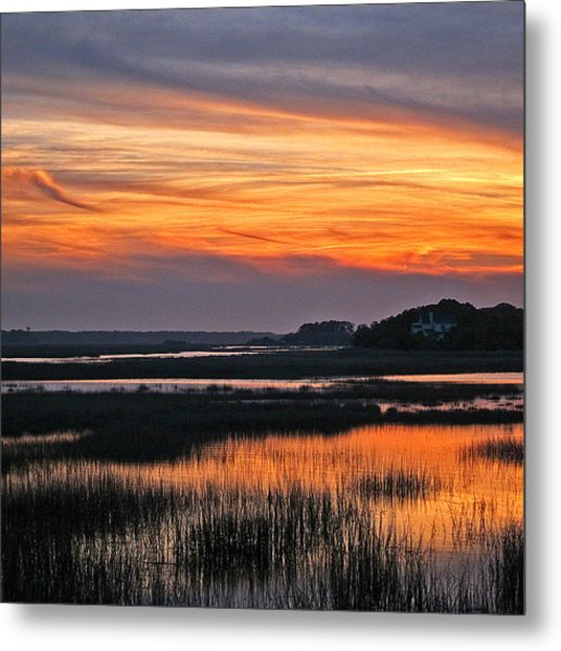 Hilton Head Sunset Metal Print