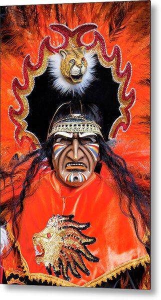 Hispanic Columbus Day Parade Nyc 11 9 11 Metal Print by Robert Ullmann