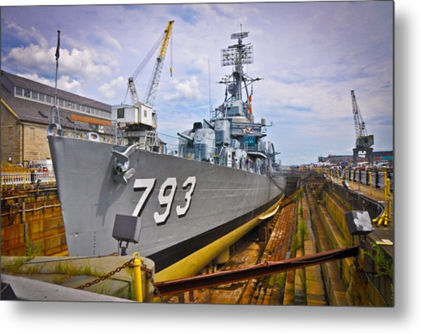 Historic Boston Ship Metal Print by Erica McLellan