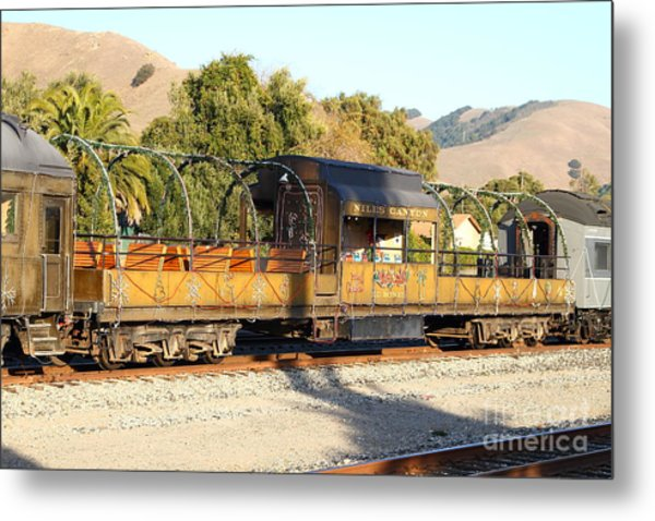 Historic Niles Trains In California . Old Niles Canyon Train . 7d10840 Metal Print by Wingsdomain Art and Photography