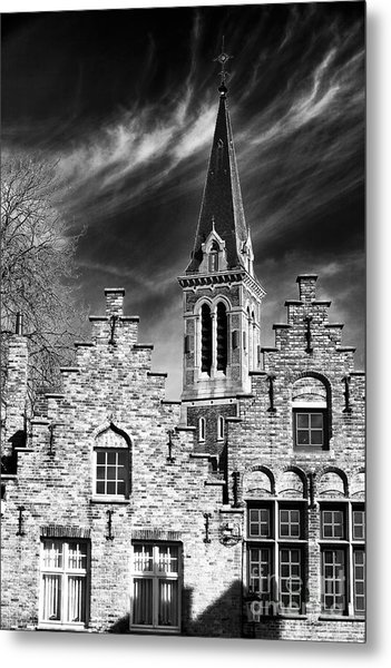 History In Bruges Metal Print by John Rizzuto