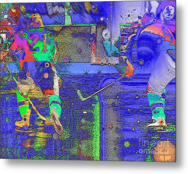 Hockey Abstract Metal Print by Rod Seeley