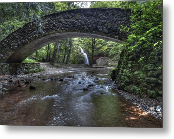 Hocking Bridge Metal Print