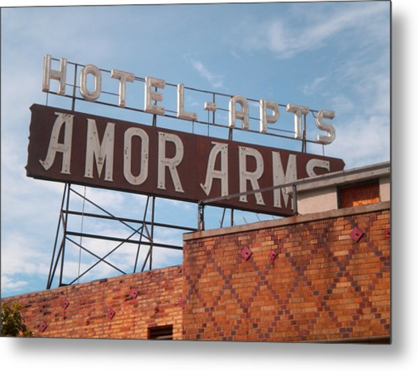 Hollywood Amor Arms Metal Print