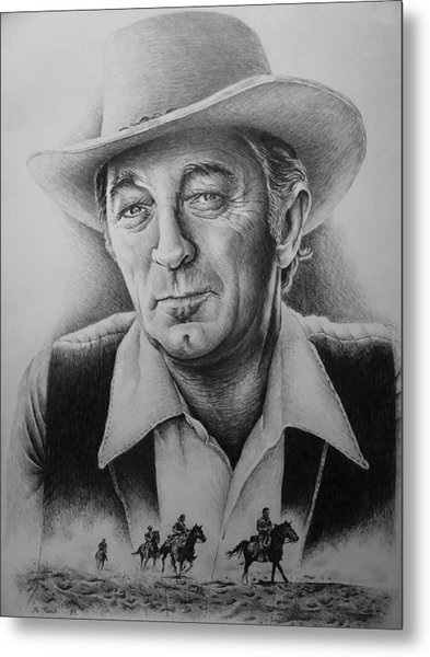 Hollywood Greats -robert Mitchum Metal Print
