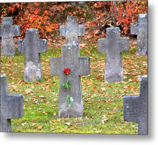 Holocaust Memorial Cross Metal Print