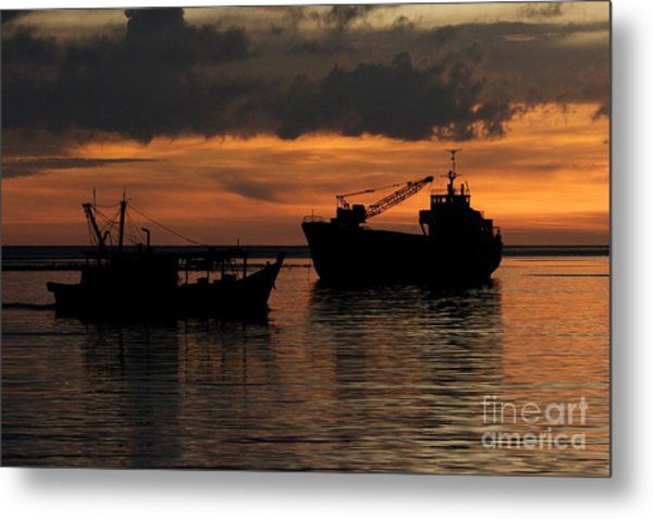 Home For The Night. Metal Print