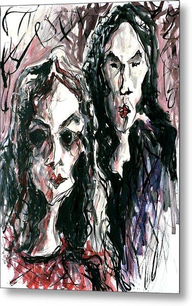 Homoline #36. Two Figures Metal Print