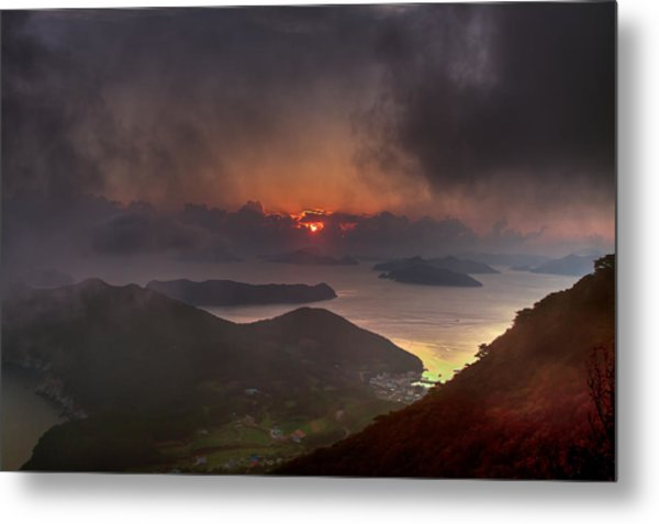 Hongpo Sunset South Korea  Metal Print