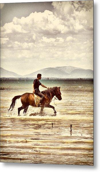 Horse Riding Metal Print
