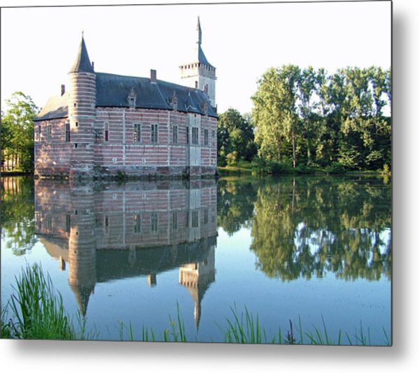 Horst Castle Belgium Metal Print by Joseph Hendrix