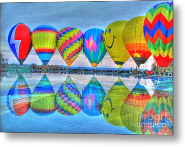 Hot Air Balloons At Eden Park Metal Print