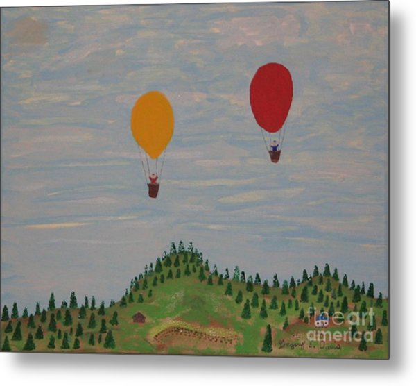 Hot Air Balloons Metal Print by Gregory Davis