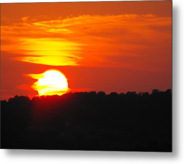 Hot August Sunset In Texas Metal Print by Rebecca Cearley