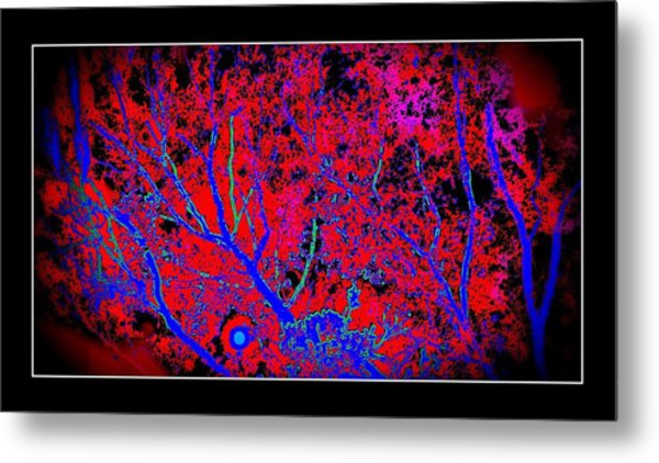 Hot Night Bad Moon Metal Print