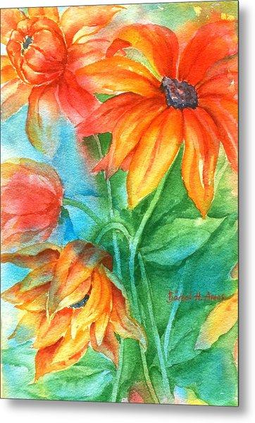 Hot Summer Flowers Metal Print