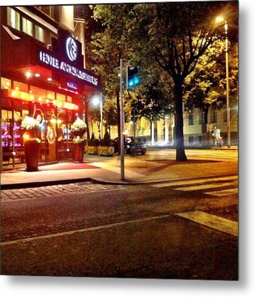 Hotel  Am Konzerthaus #wien #night Metal Print