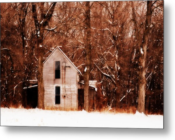 House In The Woods Metal Print by Cheryl Helms