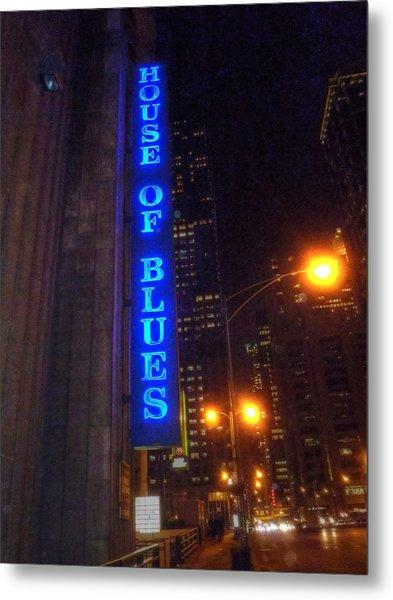 House Of Blues Metal Print by Barry R Jones Jr