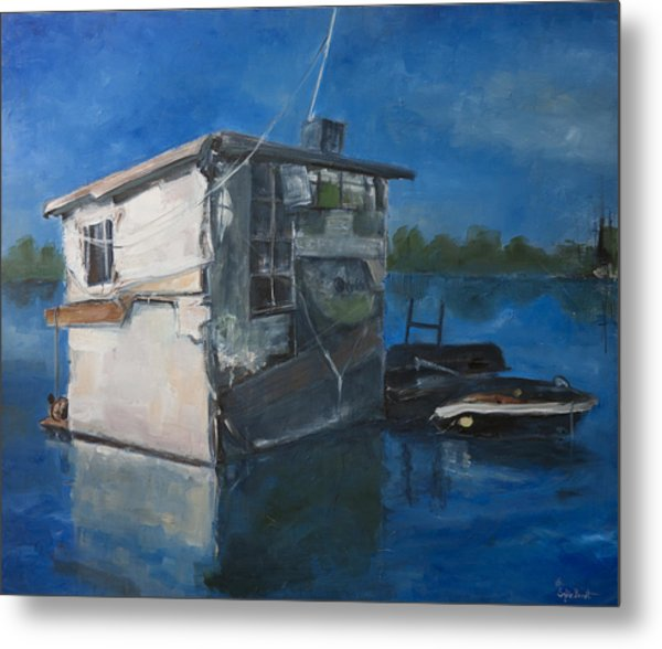 Houseboat Metal Print by Sophie Brunet