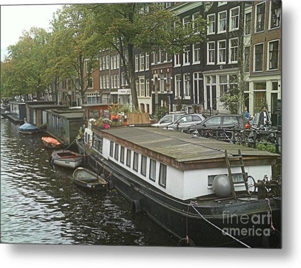Houseboats Of Rotterdam Metal Print by Jennifer Sabir