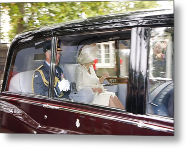 Hrh Prince Charles And Camilla Metal Print