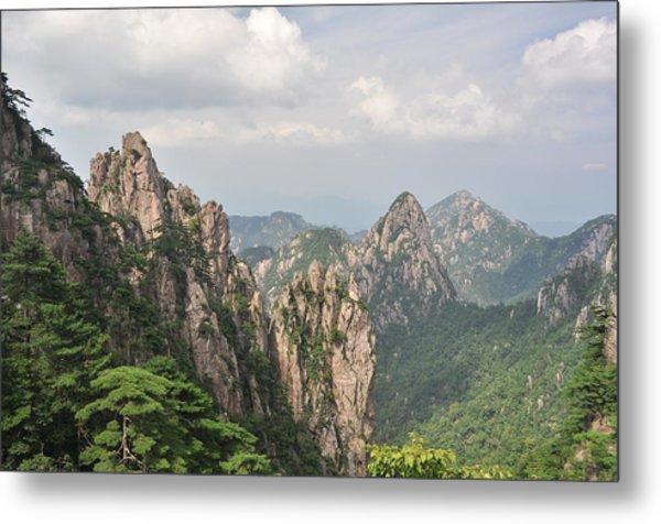 Huangshan Granite 1 Metal Print