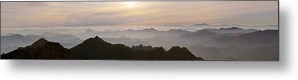 Huangshan Sunrise Panorama 1 Metal Print