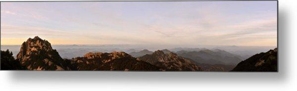 Huangshan Sunrise Panorama 2 Metal Print