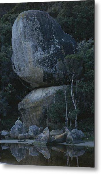 Huge Granite Boulders Encrusted Metal Print