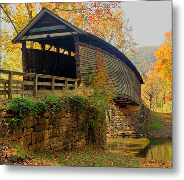Humpback Covered Bridge Metal Print