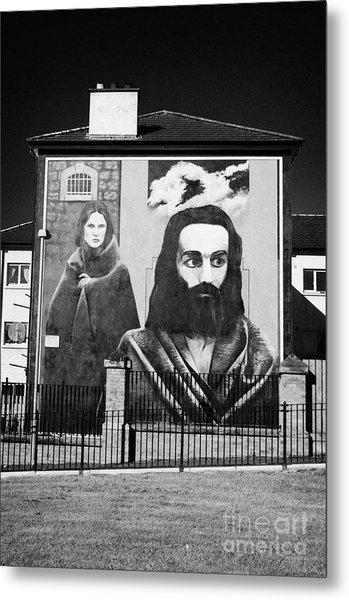 Hunger Strike Mural Derry Bogside Metal Print