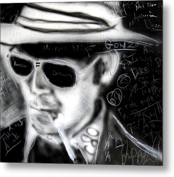 Hunter S Thompson American Dream  Metal Print by Jon Baldwin  Art