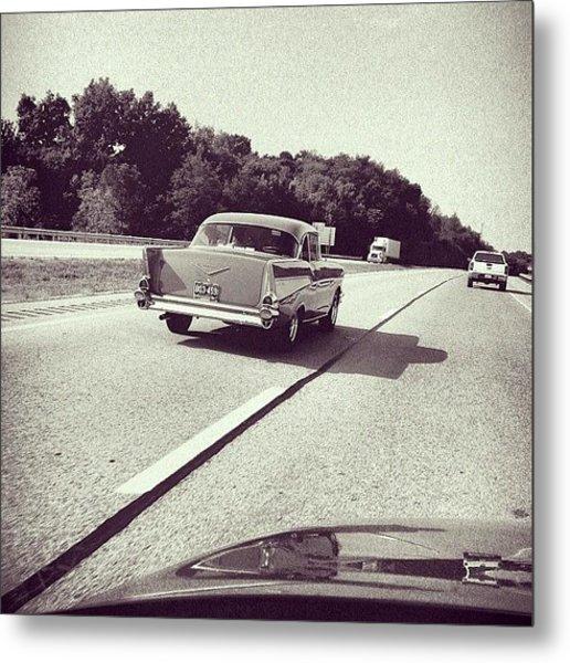 I <3 Vintage Cars! It's Great To See Metal Print