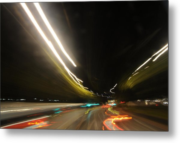 I Dreamed Of Driving At Night Metal Print by George Crawford