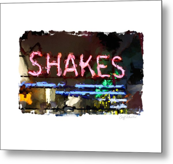 I Got The Shakes Metal Print by Geoff Strehlow