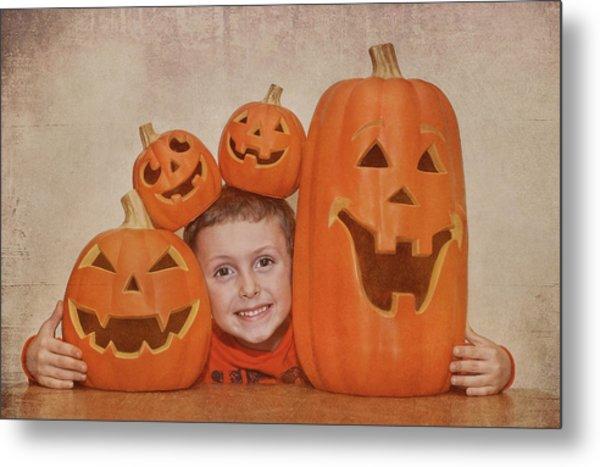 I Love Pumpkins Metal Print by Pat Abbott