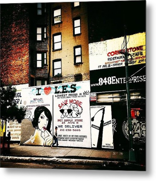 I Love The Lower East Side - New York City Metal Print