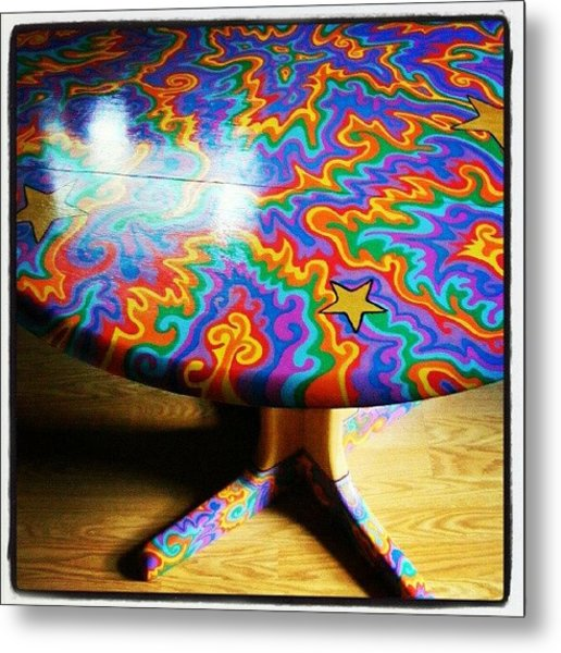 I Painted This Table With #sharpie Oil Metal Print