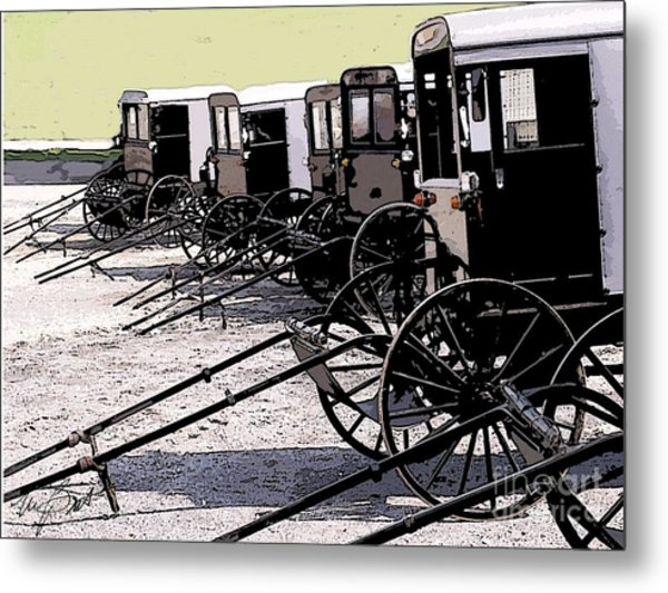Ice Cream Day In New Holland Metal Print by Maxine Bochnia