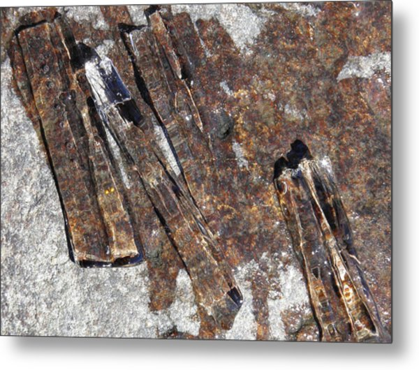 Metal Print featuring the photograph Ice Crystals 2 by Sami Tiainen
