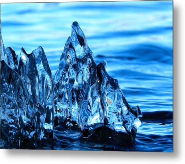 Iceberg River Metal Print