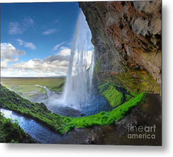 Iceland Waterfall Seljalandsfoss 02 Metal Print