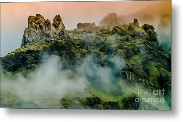 Icelandic Mist Metal Print