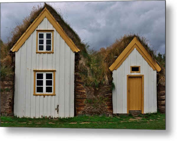 Icelandic Turf Houses Metal Print