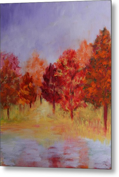 Impression Of Fall Metal Print